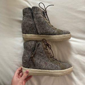 OTBT Fuzzy Wedge Sneakers